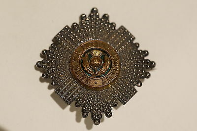 WW1 British Royal Scots Thistle 1881-1931 Officer's Forage Cap Badge
