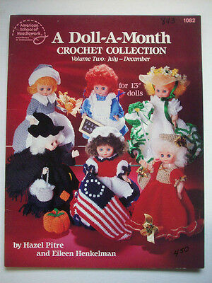 July-December Dolls of the Month crochet pattern witch pilgrim angel colonial