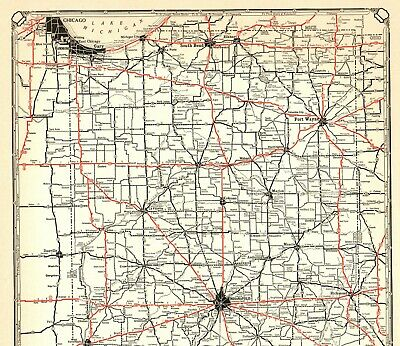 1932 ANTIQUE INDIANA State Map Vintage Map of Indiana ROAD MAP Poster on indiana state budget, indiana town road map, tcu road map, indiana map with cities, indiana state license, indiana state camping, zoomable indiana road map, indiana road map of usa, indiana state history, detailed indiana road map, indiana state information, indiana road construction map, indiana road map online, southern illinois road map, indiana county road map, fort wayne indiana road map, indiana state weather, indiana state resources, indiana united states map, current indiana road map,