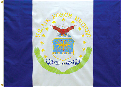 3x4 ft US AIR FORCE OFFICIAL RETIRED MILITARY FLAG OUTDOOR NYLON MADE IN USA