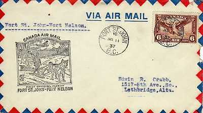 CANADA 1ers vols first flights airmail 117