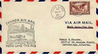 CANADA 1ers vols first flights airmail 119