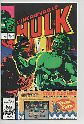 HULK #172 french comic français EDITIONS HERITAGE [Thor]