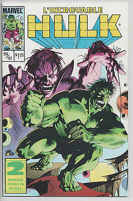 HULK #156/157 french comic français EDITIONS HERITAGE