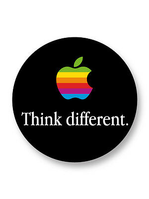 Magnet Aimant Frigo Ø38mm Think different Slogan Pub Apple