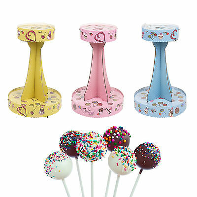 2 Tier Cake Pop Stand Decoration Lollipop Decorating Display Cardboard Holder