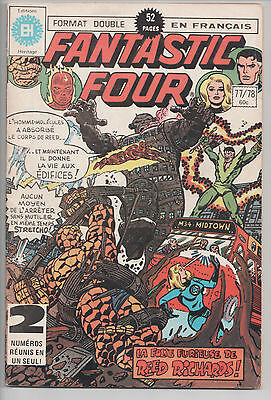FANTASTIC FOUR #77/78 French Comic Français EDITIONS HERITAGE