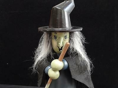 """Zim's 13"""" Wood Witch For Halloween 1996 Spooky!"""