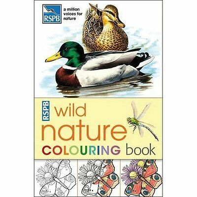 RSPB Wild Nature Colouring Book - Paperback NEW . (Author) 2013-02-28