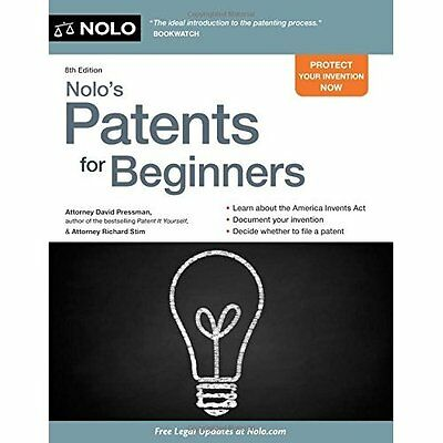 Nolo's Patents for Beginners: Quick & Legal - Paperback NEW David, Attorney 2015