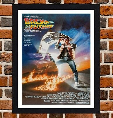 Framed Back To The Future Movie Poster A4 / A3 Size In Black / White Frame