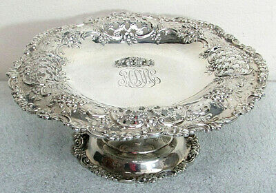 Fabulous Tiffany & Co Sterling Silver Petite Footed Cake Dish #5458