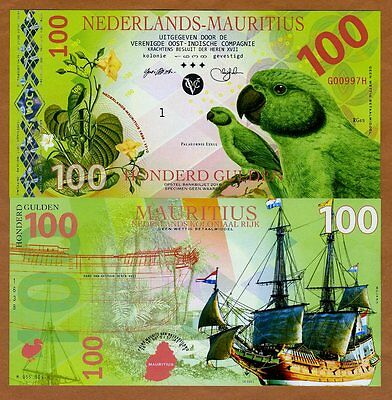 Netherlands Mauritius, 100 Gulden, 2016, Private Issue POLYMER, UNC