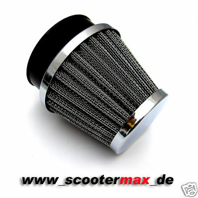ROMET BMW Sportluftfilter Tuning Motorrad Luftfilter ATV 60mm AIR FILTER CHROM