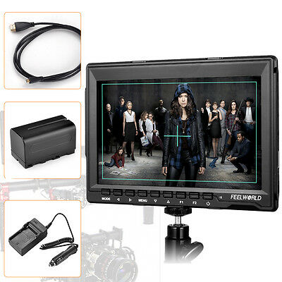 "US Feelworld FW759 7"" IPS 1080P Field HDMI Video Monitor DSLR +Battery for Sony"