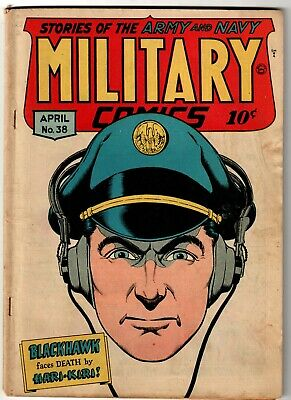 Military Comics Comic Book #38, Quality Comics 1945 VERY GOOD