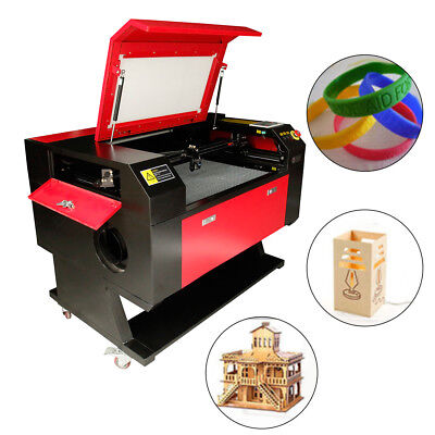 100W Co2 Tube USB Laser Cutter Engraver Cutting Engraving Machine w/Stand