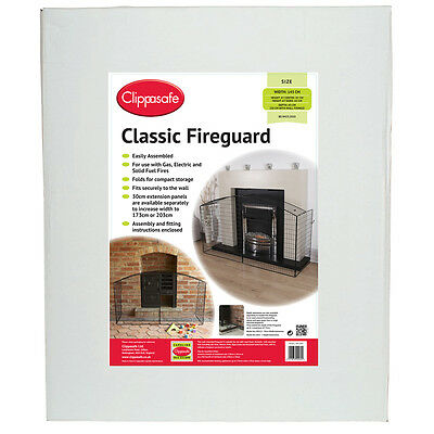 Clippasafe Classic Fireguard Choice of COMPLETE or EXTENSION One Supplied
