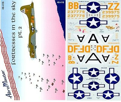 AEROMASTER 48-416 - DECALS 1/48 - FORTRESSES IN THE SKY Pt. II