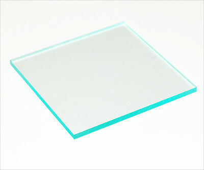 3 mm A5 Clear Glass Effect green edge Perspex cast Acrylic sheet 210 mm x 148 mm