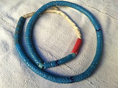 Africa Trade Beads- Old Czech Bohemian Large Mix Glass Snake Beads  Togo