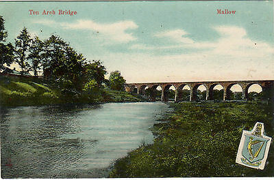 Ireland.  Mallow. The Arch Bridge. Printed.  Posted. Single. Standard..