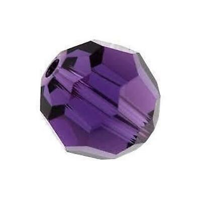 Czech Crystal Glass Faceted Round Beads 4mm Violet 95+ Pcs Art Hobby Jewellery