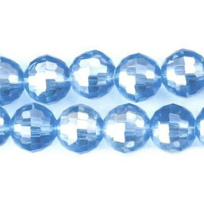 Strand Of 70+ Pale Blue Czech Crystal Glass 6mm Faceted Round Beads GC9904-1
