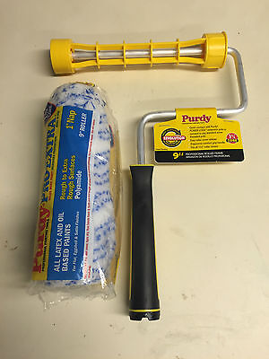 "Purdy 9"" Revolution Frame Plus 9"" Colossus Long Pile Paint Roller 1.75"" Core"
