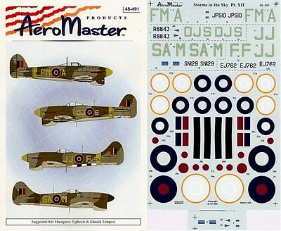 AEROMASTER 48-491 - DECALS 1/48 - STORM IN THE SKY Pt. XII