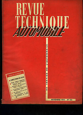 (C11)Revue Technique Automobile Simca Vedette / Peugeot 203 / Citroen Ds19