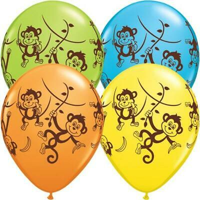 "10 x Mischievous Monkeys Qualatex Mixed 11"" Latex Balloons"