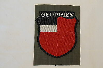 WW2 German Army Foreign Volunteers -Georgien Landeschilde Bevo Sleeve Insignia