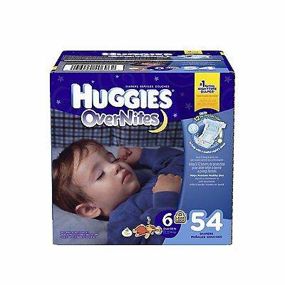 Huggies Overnites Diapers, Size 6, 42 Count, New, Free Shipping