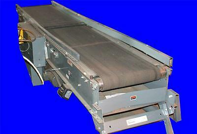 Very Nice Buschman 12' Gap Belt Powered Conveyor With 1/2 Hp Motor 230/460 Volts