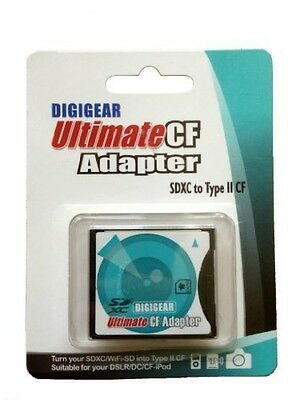 Digigear SD SDHC SDXC to CF type II Extreme/Ultimate Compact Flash Card Adapter