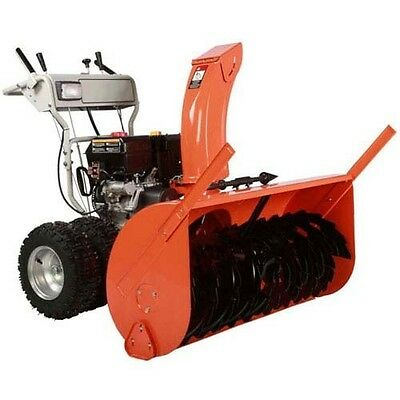 """Dual Stage Snow Blower - 36"""" Clear - 15 HP - 50ft Throw - 120V Electric Start"""
