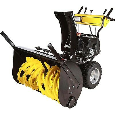 """Dual Stage Snow Blower - 30"""" Clear - 11 HP - 50ft Throw - 120V Electric Start"""