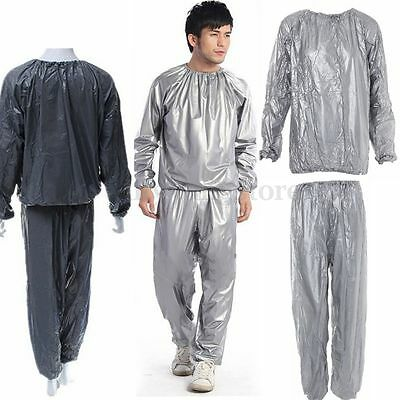 Heavy Duty Sweat Suit Sauna Suit Exercise Gym Fitness Weight Loss Anti-Rip Suit