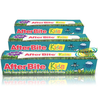 3x Afterbite Kids/Children Gel Cream 20g Itching Relief After Insect Bite/Stings