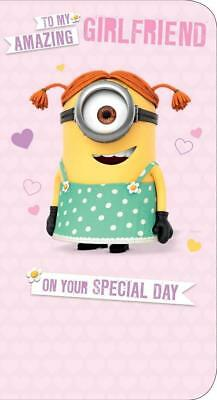 Despicable Me To My Amazing Girlfriend Birthday Card Minion New Gift