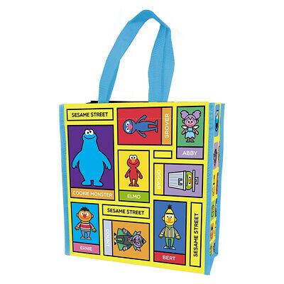 Sesame Street Characters Art Images Small Insulated Shopper Tote Bag, NEW UNUSED