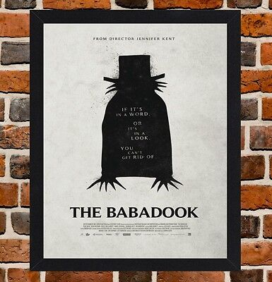 Framed The Babadook Movie Poster A4 / A3 Size Mounted In Black / White Frame .