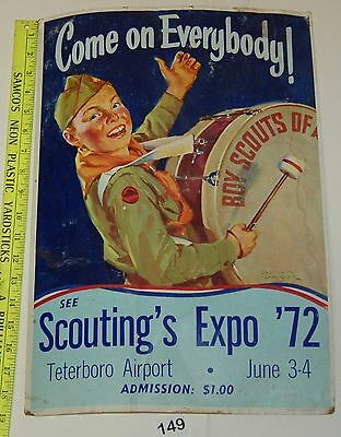 BOY SCOUT 1972 Vintage  Scouting Expo Poster #149