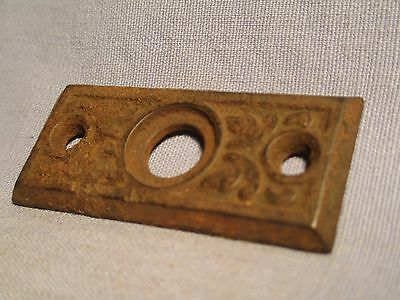 Antique Victorian Iron Backplate - Small /    JA 163