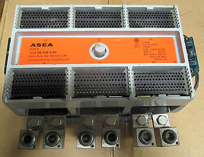 Asea Size 6 Contactor 540 Amp Continuous 600 Vac 400 Hp 3 Phase Model Eg630-2-Ul