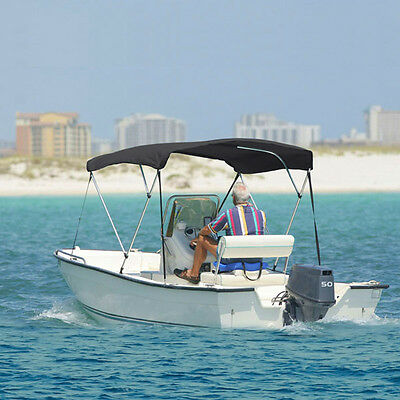 """3 Bow Bimini Boat Cover 6' Ft Top 54""""-60"""" W/ Boot Gray Covers Includes Hardware"""