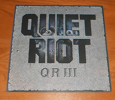Quiet Riot QR III Poster 2-Sided Flat Square 1986 Promo 12x12 RARE