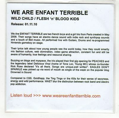WE ARE ENFANT Terrible – Explicit Pictures ADVANCE PROMO
