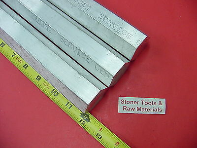 "3 Pieces HEX 1-3/8"" ALUMINUM 6061 HEX BAR 12"" long T6511 1.375 SOLID LATHE STOCK"